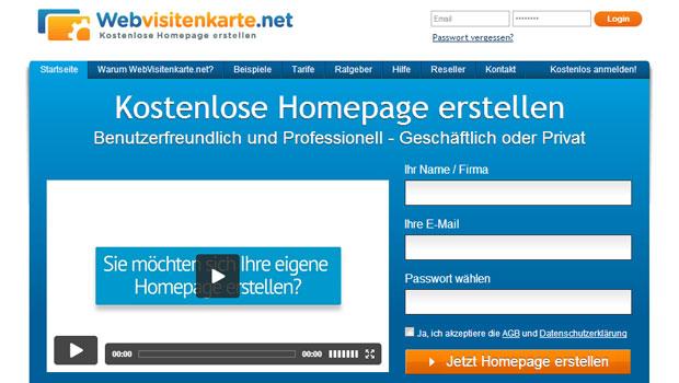 eigene homepage erstellen